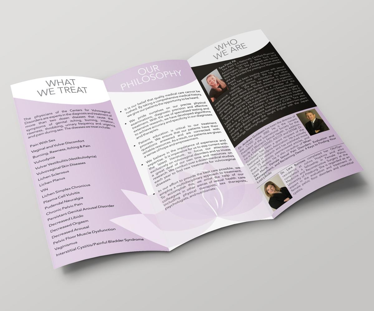 traditional bold medical brochure design for cvvd by art n ideas
