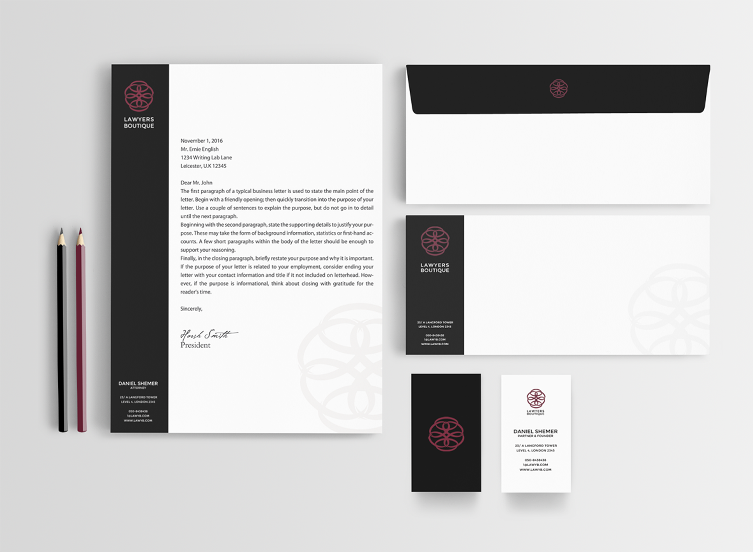Professional, Upmarket, Law Firm Stationery Design for a Company by