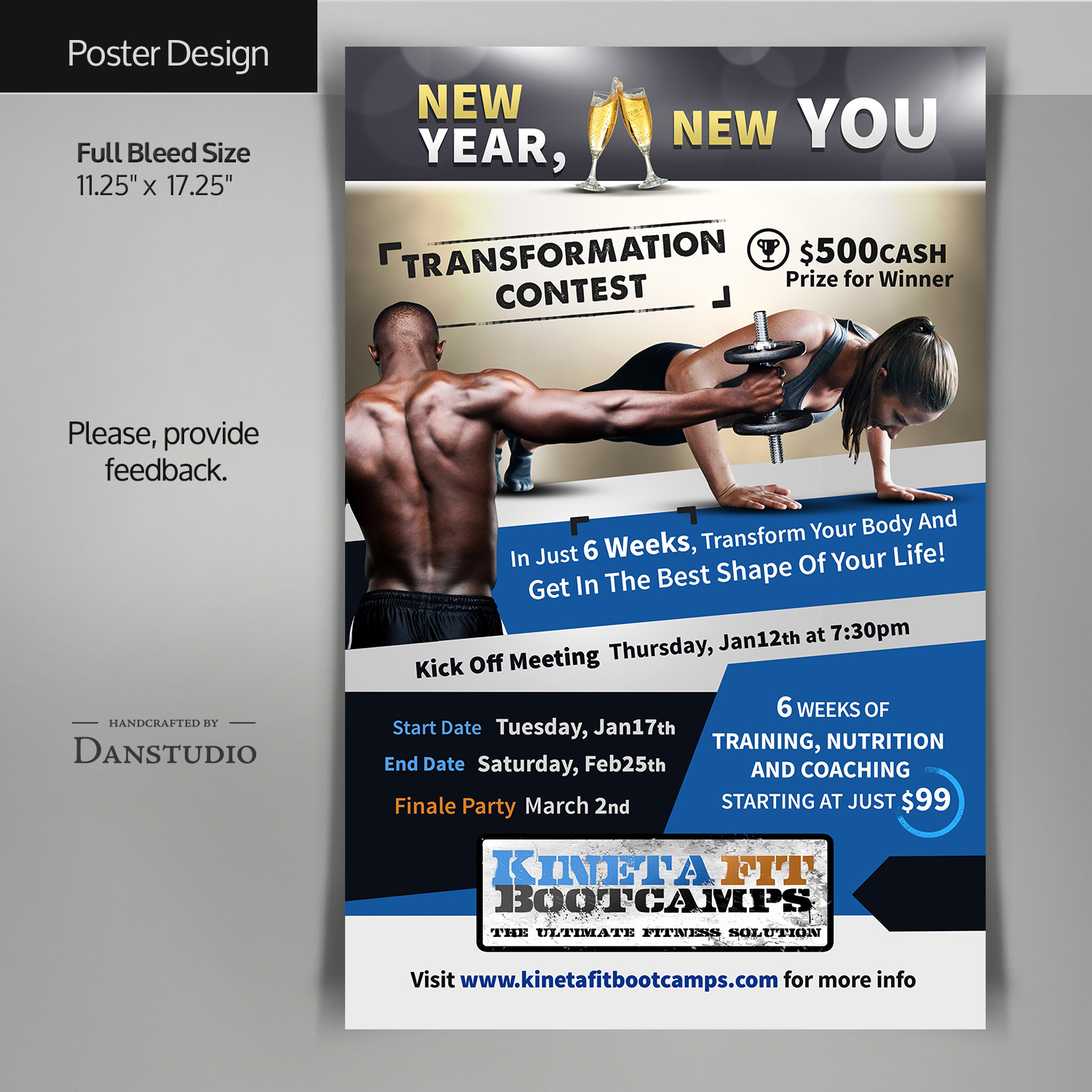 Poster design 99 - Flyer Design By Danstudio For New Year New You Transformation Contest 2017 Poster Design