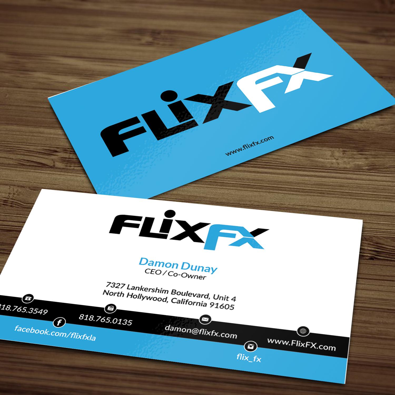Professional Upmarket Entertainment Industry Business Card Design