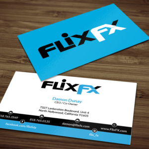 Professional upmarket business card design job business card brief business card design job flix fx ceo and partners business card winning design by colourmoves Choice Image