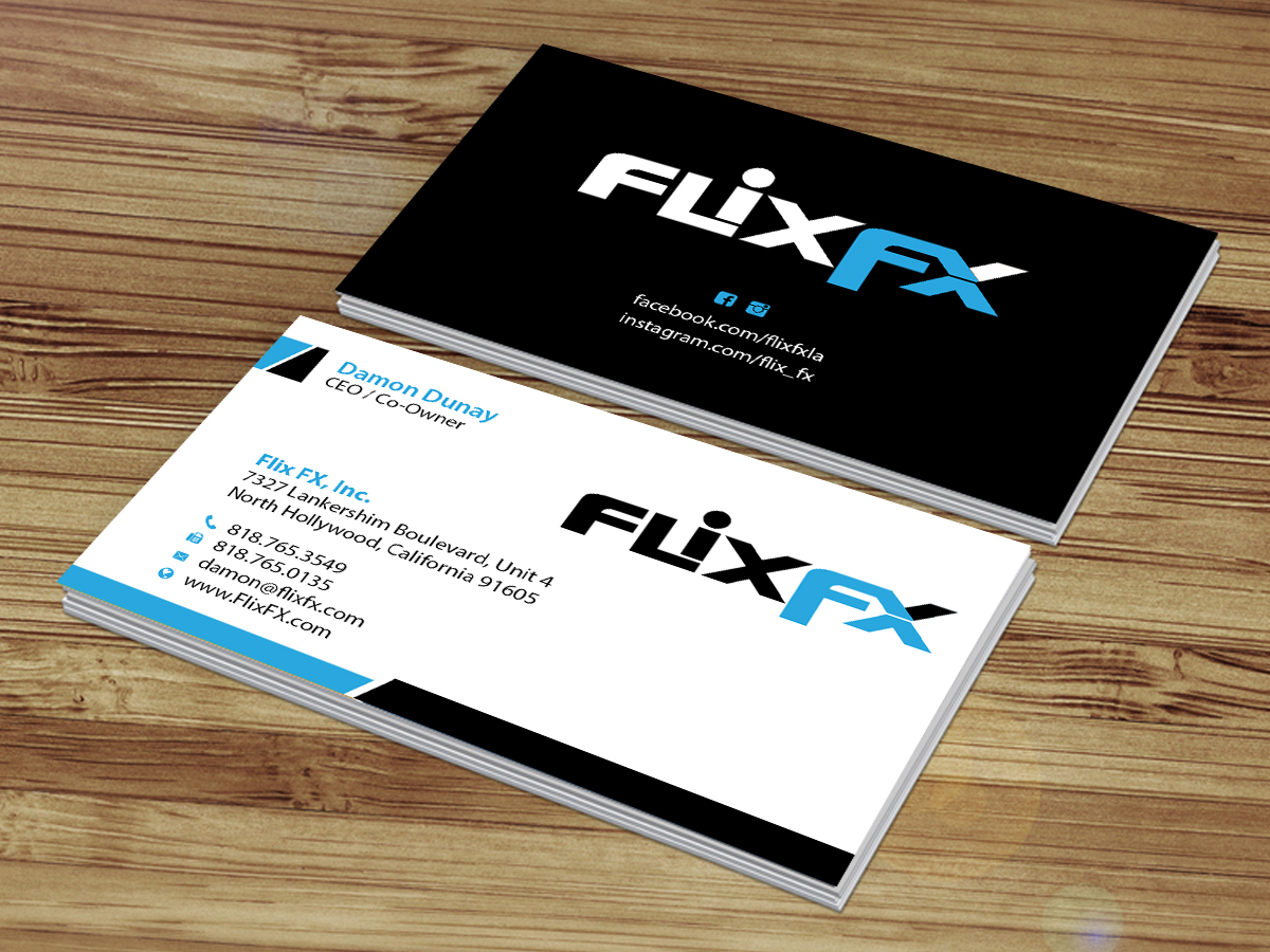Professional, Upmarket, Entertainment Industry Business Card Design ...