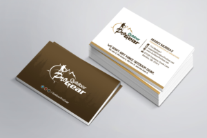 Masculine bold business card design job business card brief for business card design job outdoor pro gear business card design project winning design reheart Choice Image
