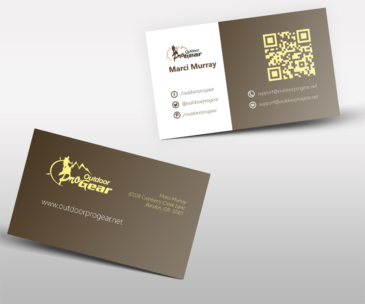 Masculine, Bold Business Card Design for Outdoor Pro Gear by ...