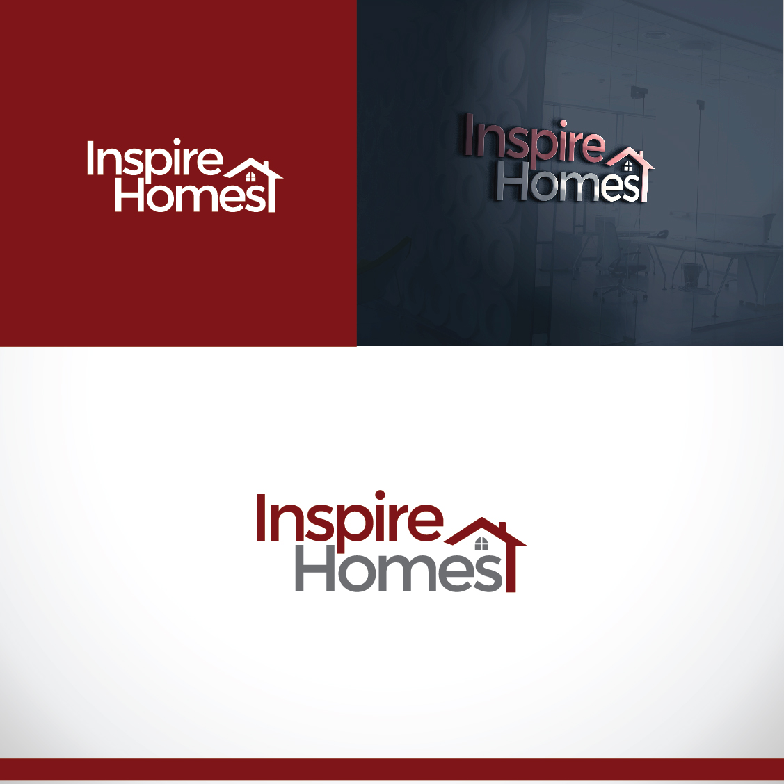 Playful, Modern, Home Builder Logo Design for Inspire Homes by ...