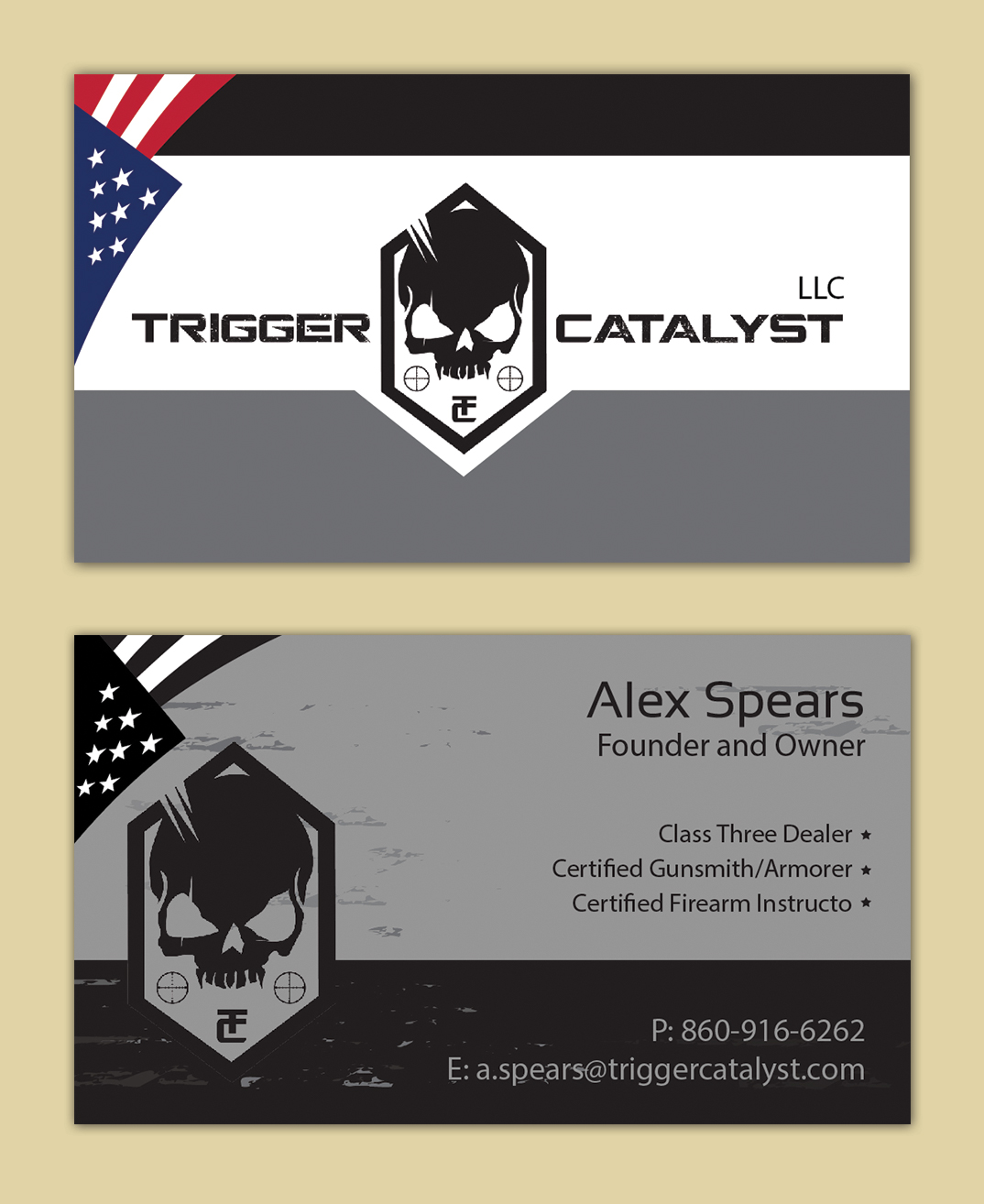 Serious, Professional, Gun Business Card Design for a Company by ...