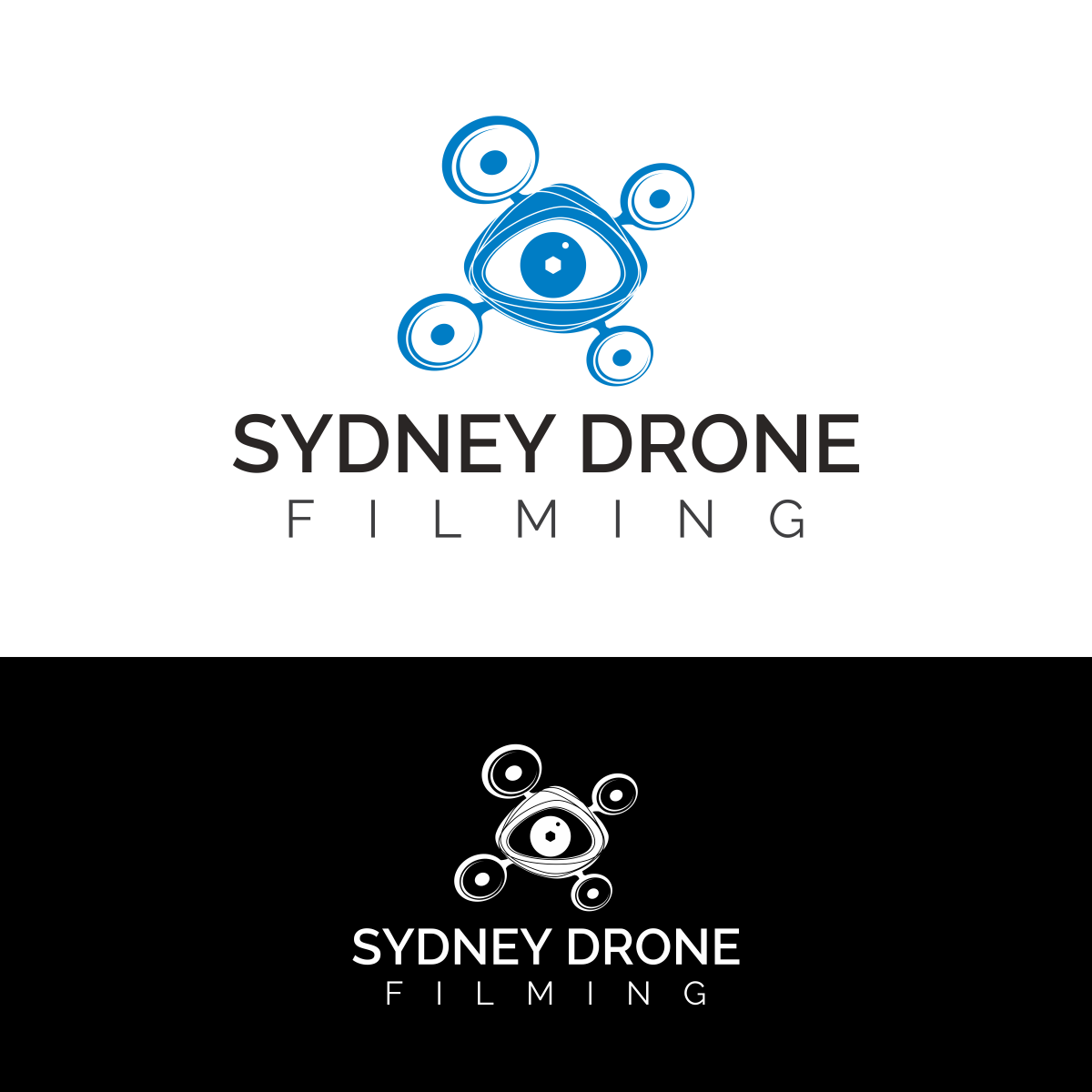 Bold, Playful, It Company Logo Design for Sydney Drone Filming by