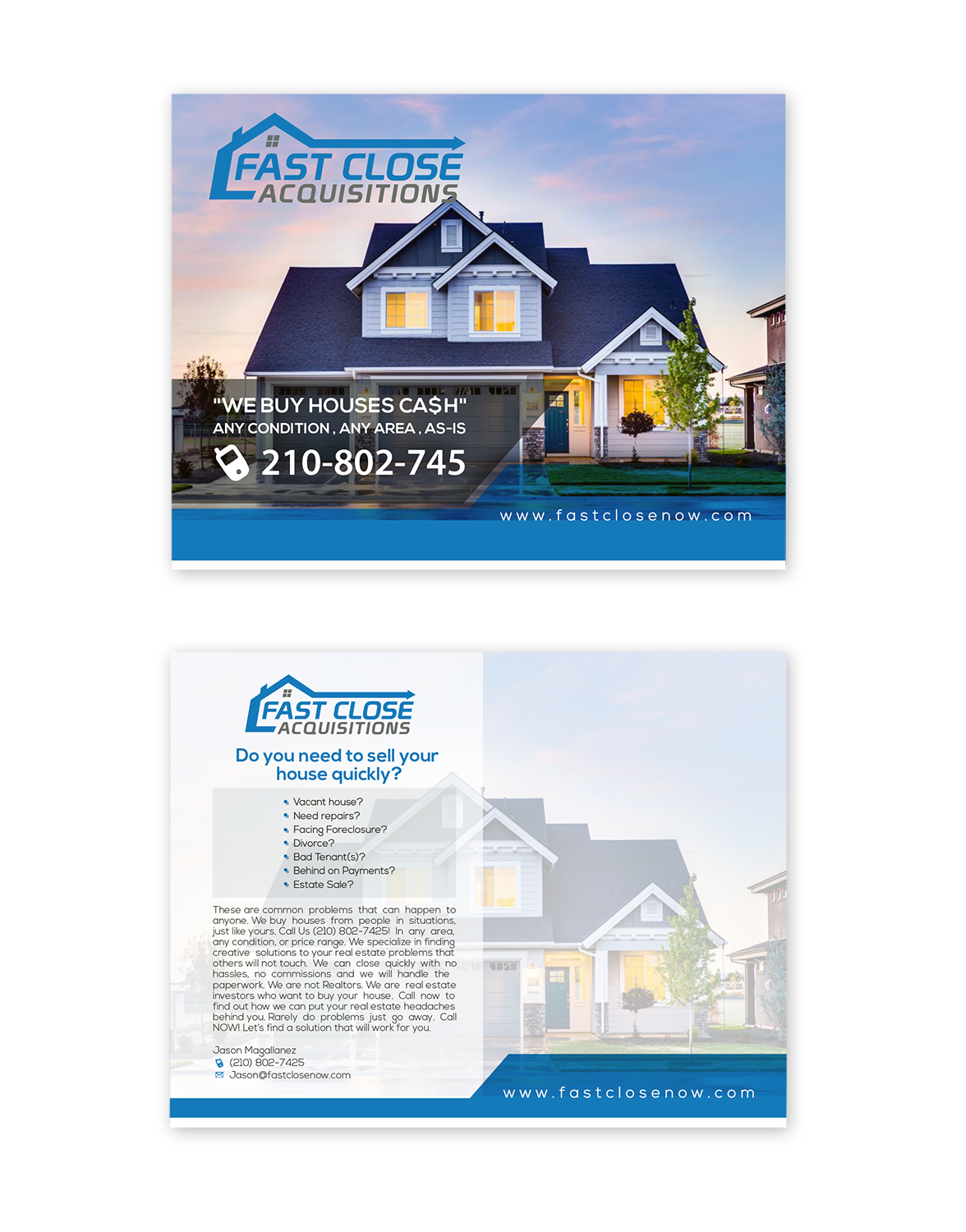 real estate postcard design