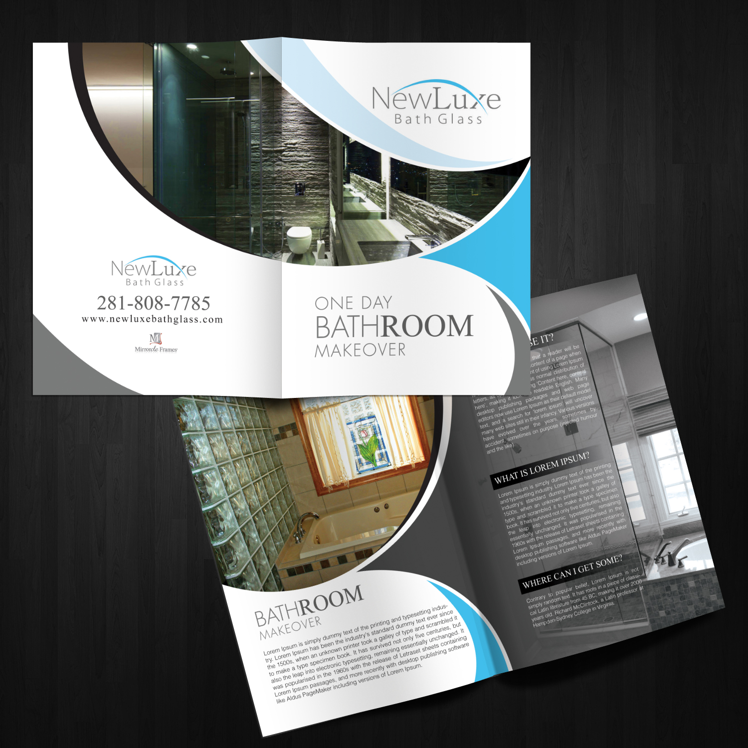 brochure design by kreative fingers for niche glass company needs brochure design 12783849 - Mirrorcle Frames