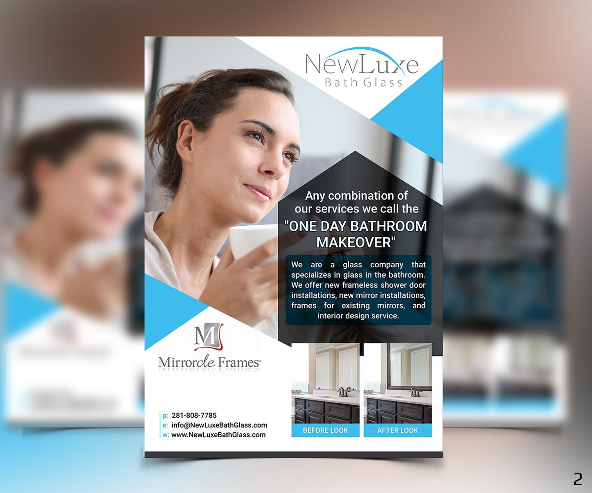 brochure design by designanddevelopment for niche glass company needs brochure design 12787356 - Mirrorcle Frames