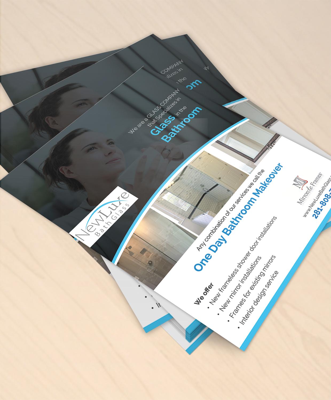 brochure design by designanddevelopment for niche glass company needs brochure design 12796190 - Mirrorcle Frames