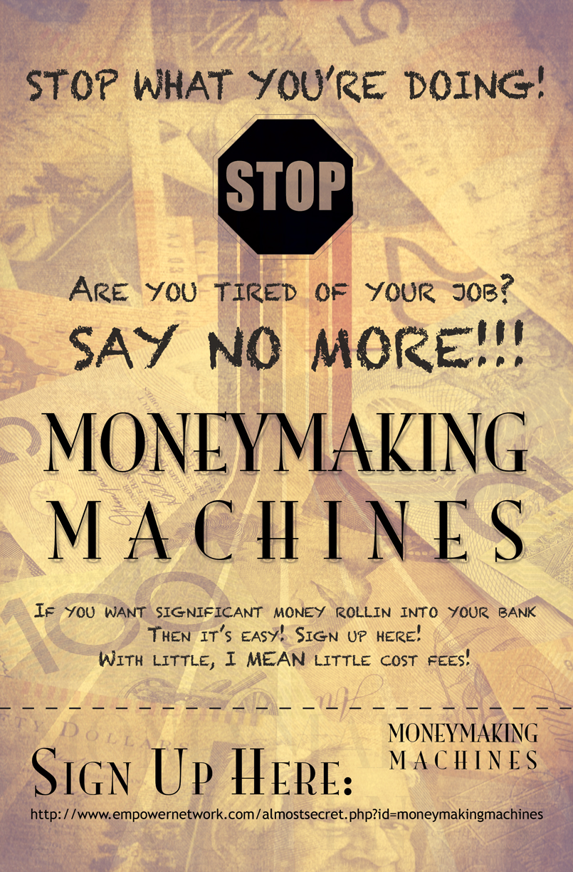 Poster design cost - Poster Design By Vinitbeley For Moneymakingmachines Design 2440448