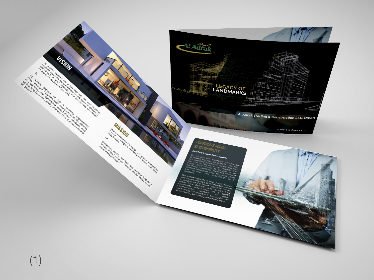 Serious, Modern, Construction Company Brochure Design for a