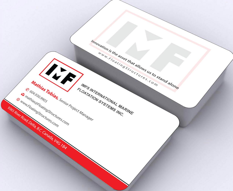 Upmarket playful business business card design for international business card design by sbss for international marine floatation systems inc design colourmoves