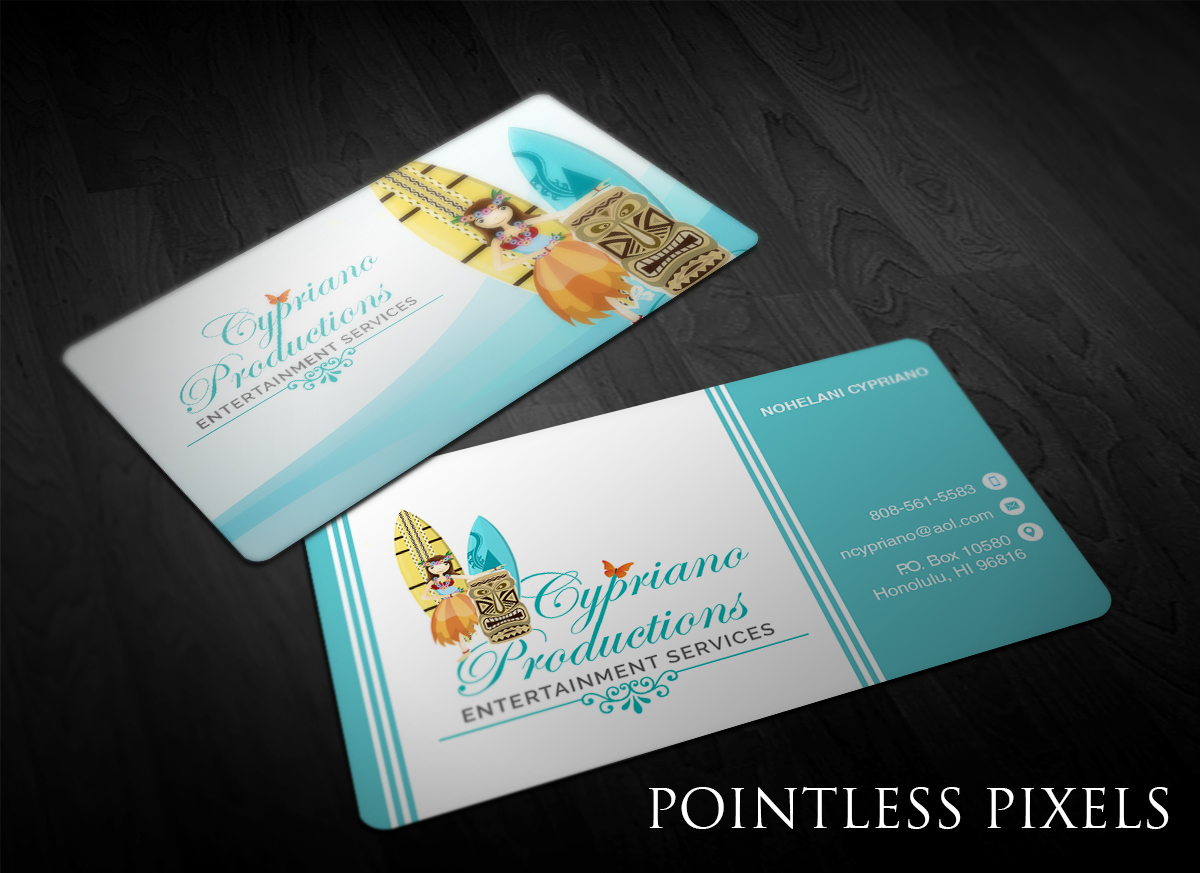 Modern, Professional, Entertainment Industry Business Card Design ...