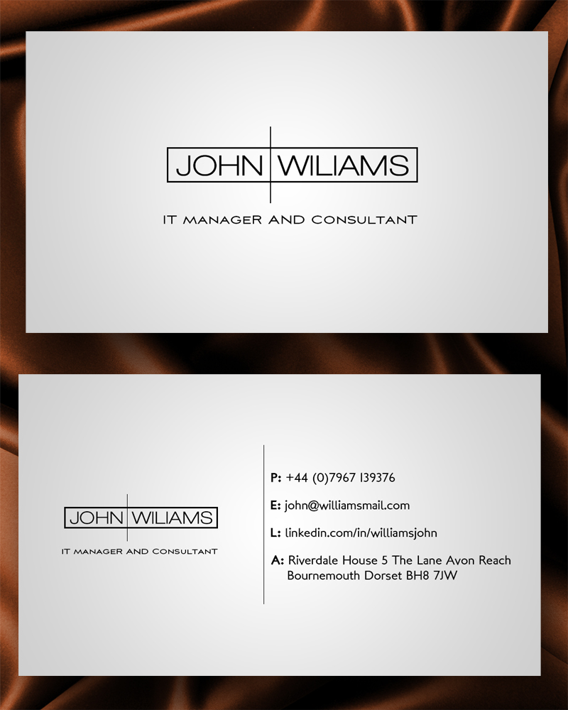 business card design for babak khosravi by junaid ahmad design