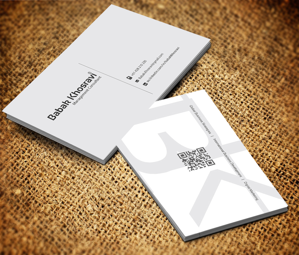 business card design for babak khosravi by gtools design  business card design by gtools for business card for job seeker professional design 2514874
