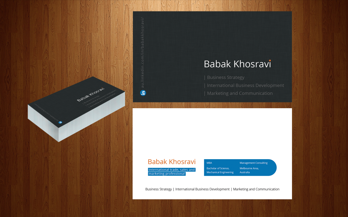 business card design for babak khosravi by artman design 2471183