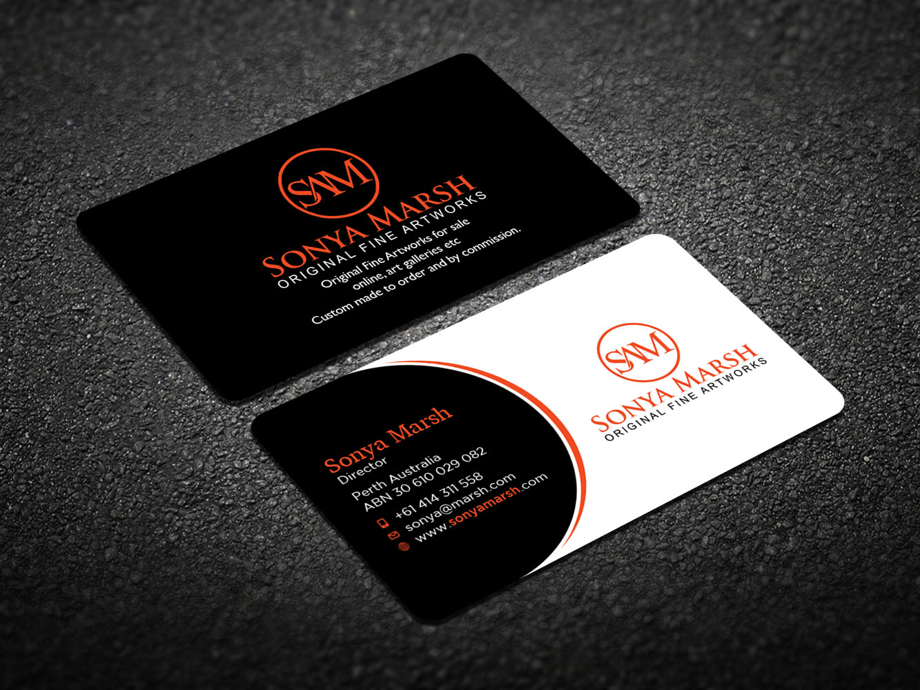 Business card design for sonya marsh by design xeneration design business card design by design xeneration for i need a business card for my original reheart Gallery