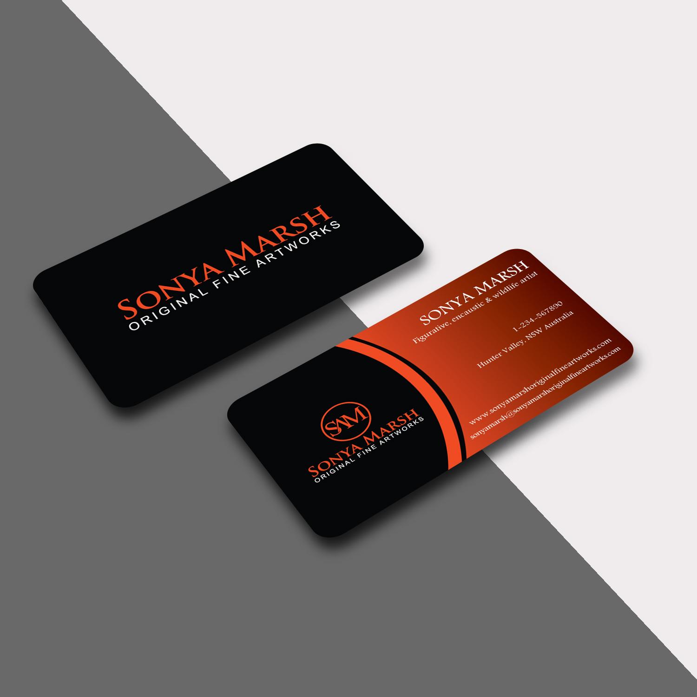 Business Card Design for sonya marsh by Creative Jiniya   Design ...