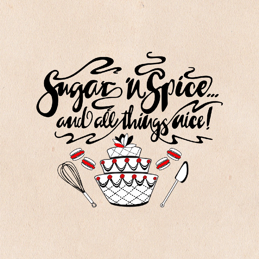 bold playful logo design for sugar 39 n spice and all things nice by lezette g design 12865134. Black Bedroom Furniture Sets. Home Design Ideas