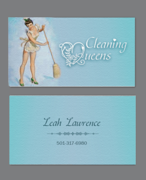 business card design job local business providing residential house cleaning services winning design by