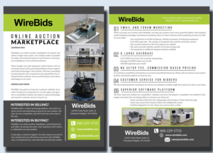 one page brochure for online auction company brochure design by marty1950