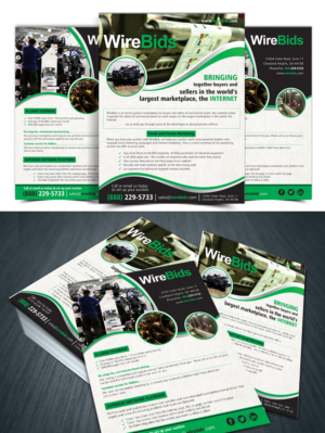 brochure design job one page brochure for online auction company winning design by