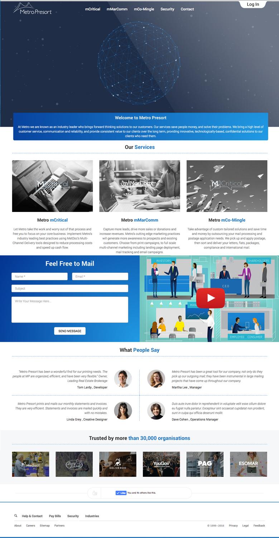 Bold Modern Tech Web Design For Metro Presort By Ccopilot Design 12896394