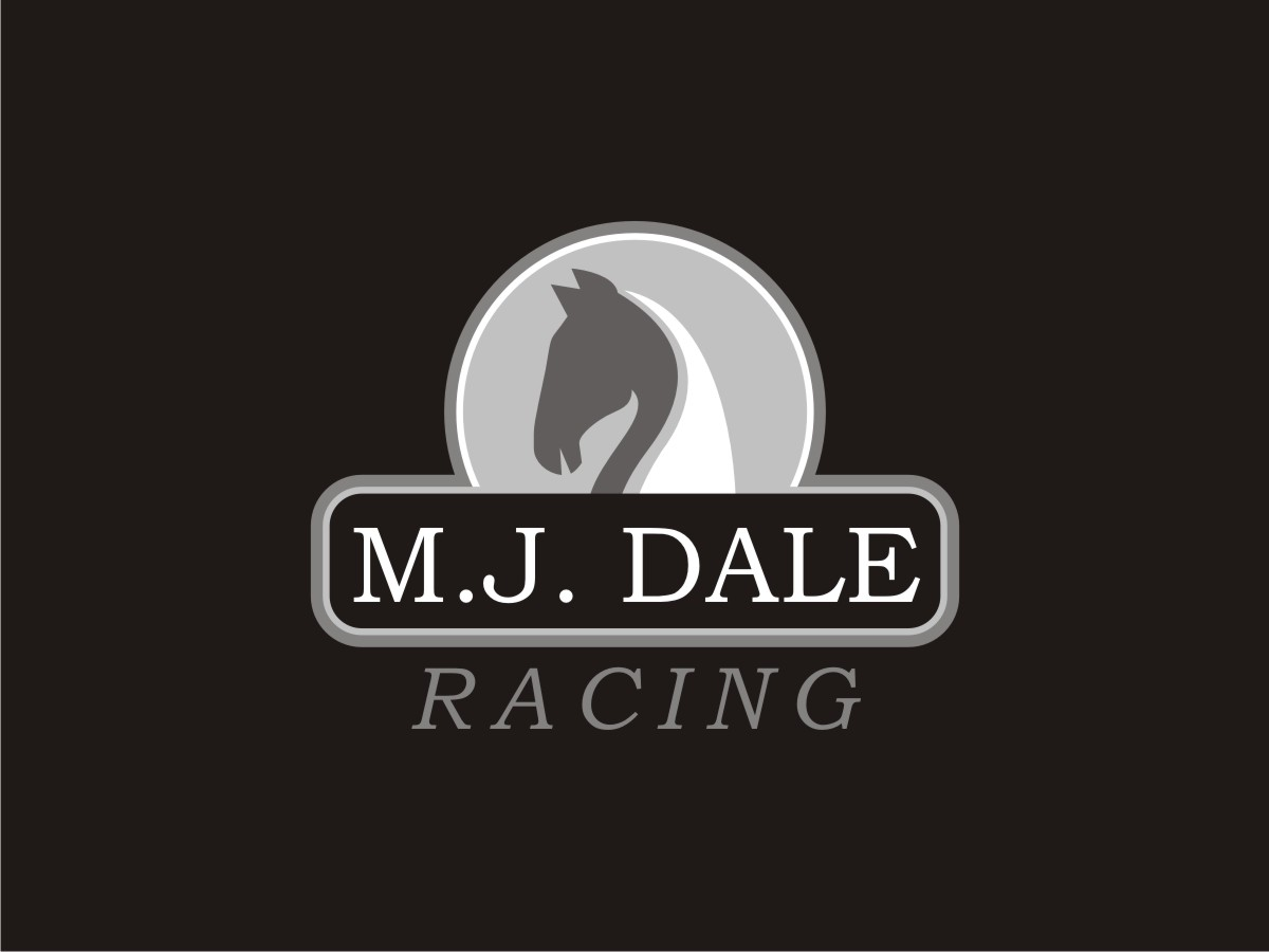 professional bold racing logo design for m j dale racing as shown
