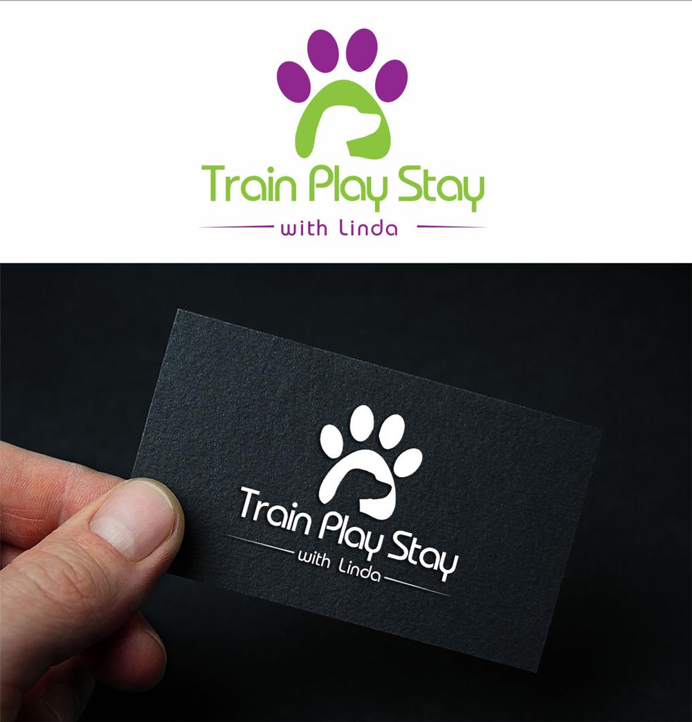 Playful colorful logo design for train play stay by turn digital logo design by turn digital for dog training walking sitting business needs a logo colourmoves