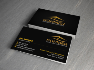 226 bold business card designs home builder business card design business card design by creations box 2015 for bohmer homes and renovations design colourmoves