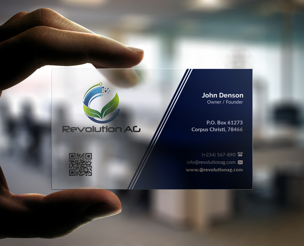 Modern professional agribusiness business card design for business card design by pointless pixels india for revolutionag design 12902457 colourmoves