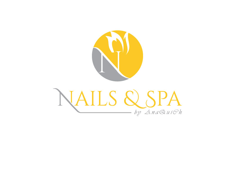 Elegant Feminine Logo Design For Nails Spa By Ana Quich By