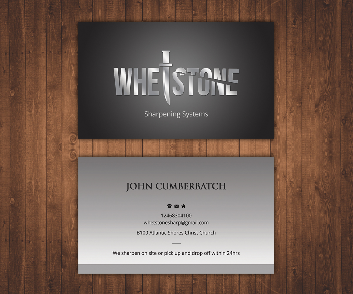 Elegant, Playful Business Card Design for Whetstone by Stylez ...