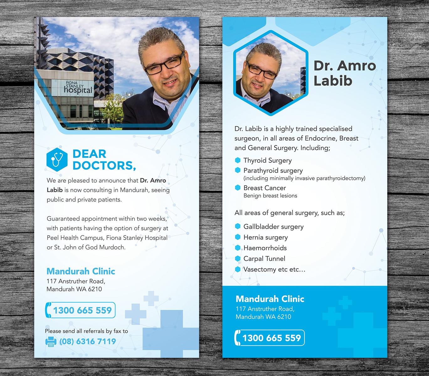elegant playful medical flyer design for a company in australia design 12916196