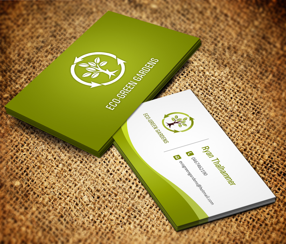 Business Card Design By Owaisias For Eco Green Gardens   Design #2441247