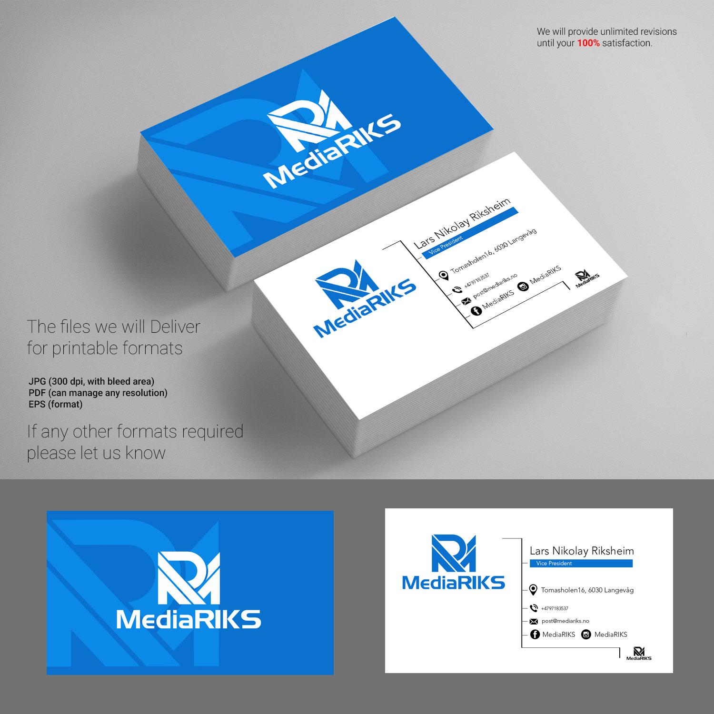 Elegant playful it company business card design for mediariks by business card design by rajuatu for mediariks design 12985924 colourmoves