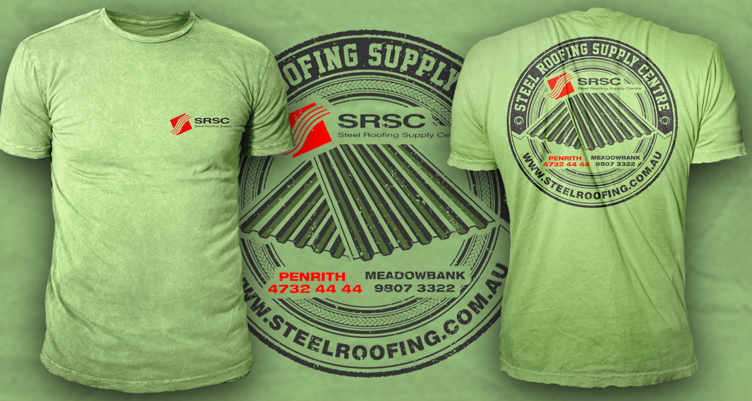 Masculine playful roofing t shirt design for a company in australia design 12940632