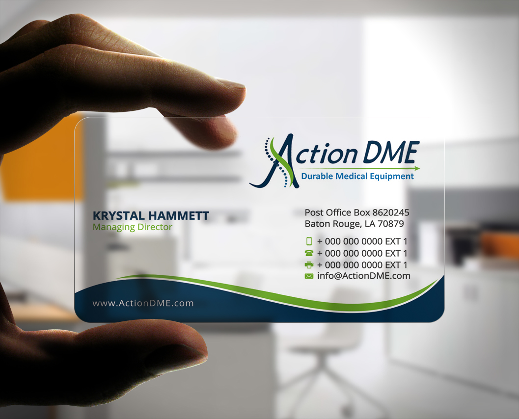 Professional Serious Medical Equipment Business Card Design For A