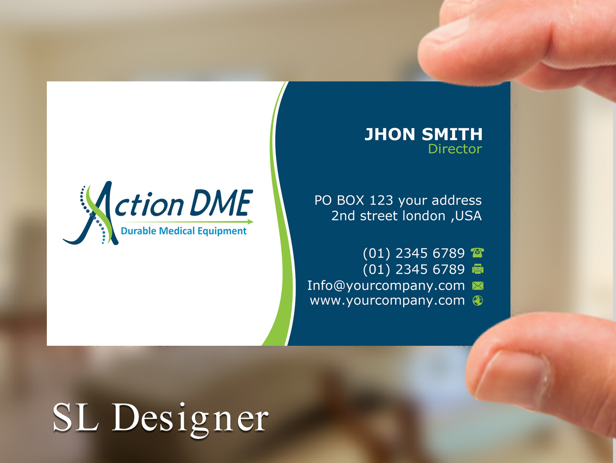 Professional serious medical equipment business card design for a business card design by sl designer for this project design 12952184 colourmoves Choice Image