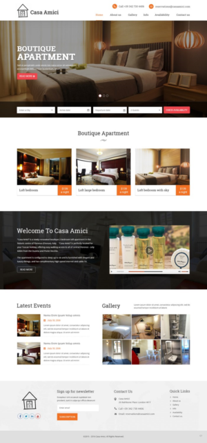 web design design 12971512 submitted to casa amici needs a new website for - Apartment Website Design