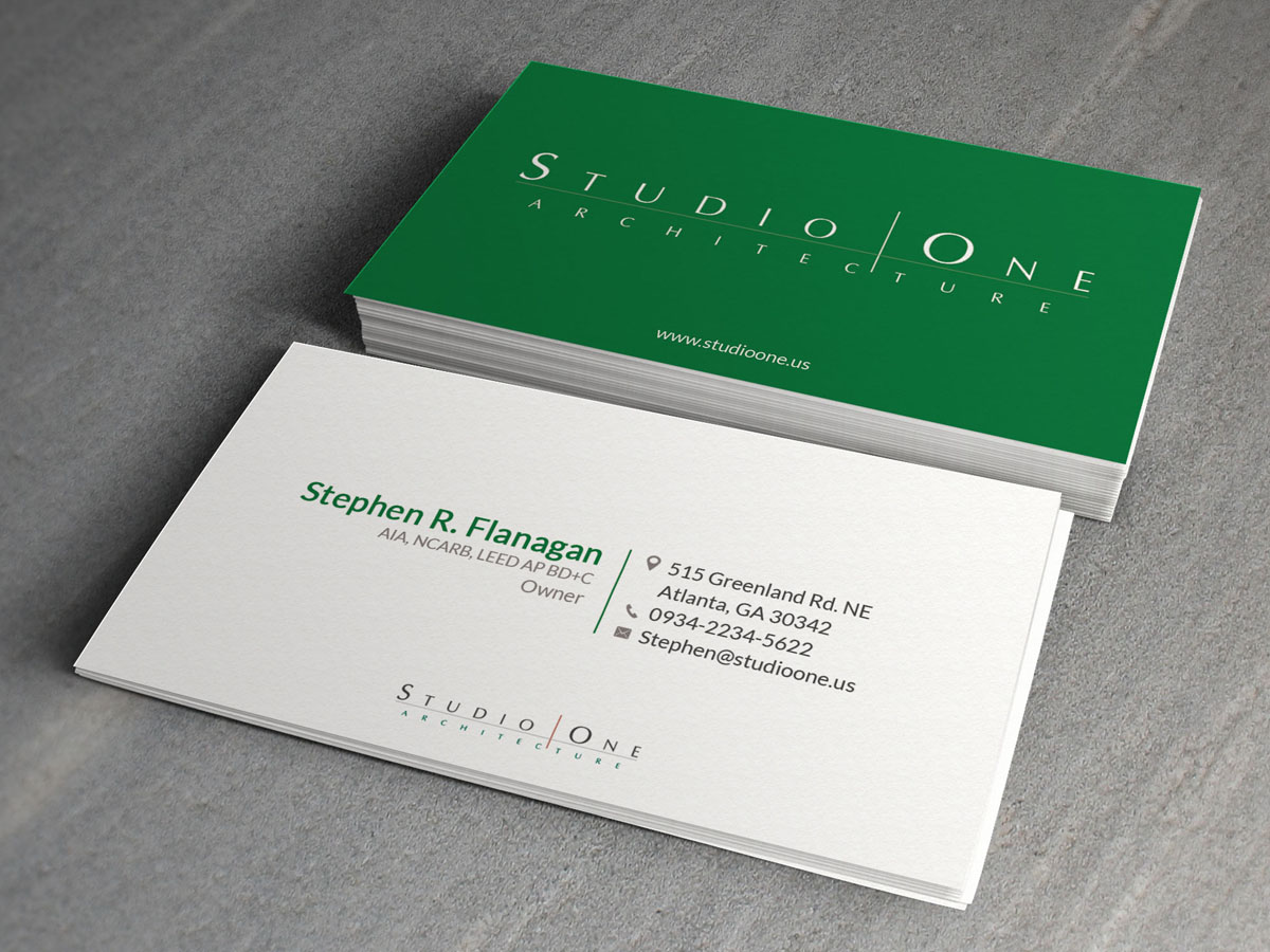 Elegant serious architect business card design for studio one business card design by sandaruwan for studio one architecture design 12964558 colourmoves