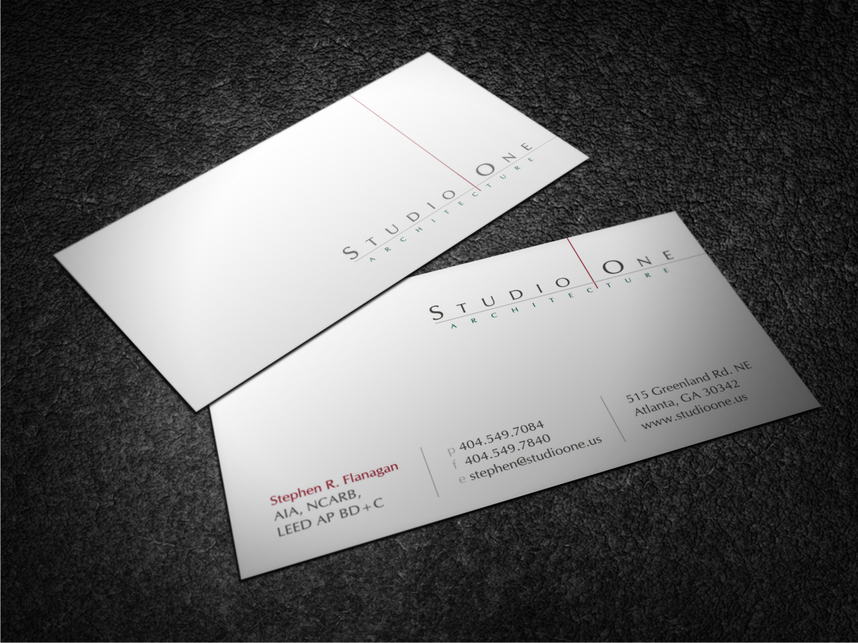 Design De Carte Visite Par Atvento Graphics Pour Studio One Architecture