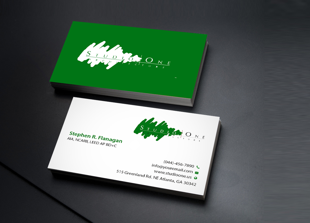 Elegant serious business card design for studio one architecture business card design by creations box 2015 for studio one architecture business card design magicingreecefo Images