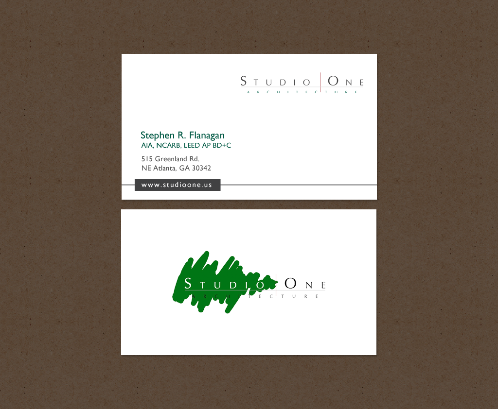 Business Card Design By Chandrayaancreative For Studio One Architecture