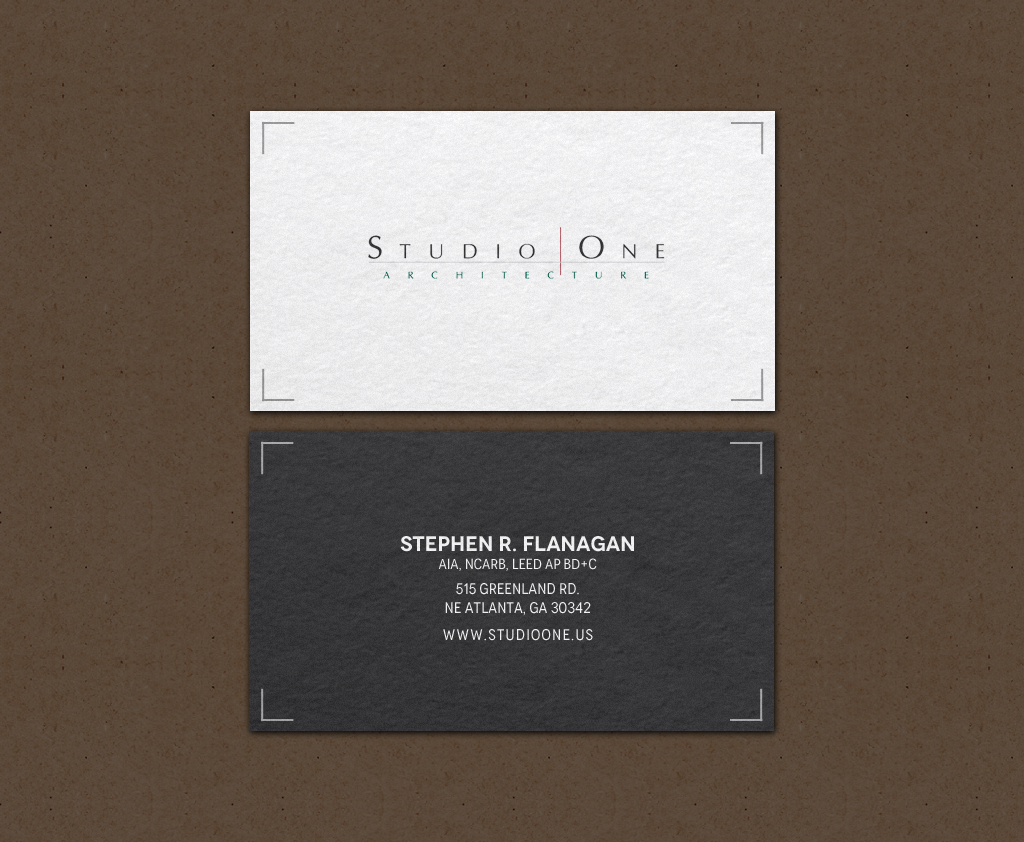 business card design by chandrayaancreative for studio one architecture design 12958644 - Architect Business Card