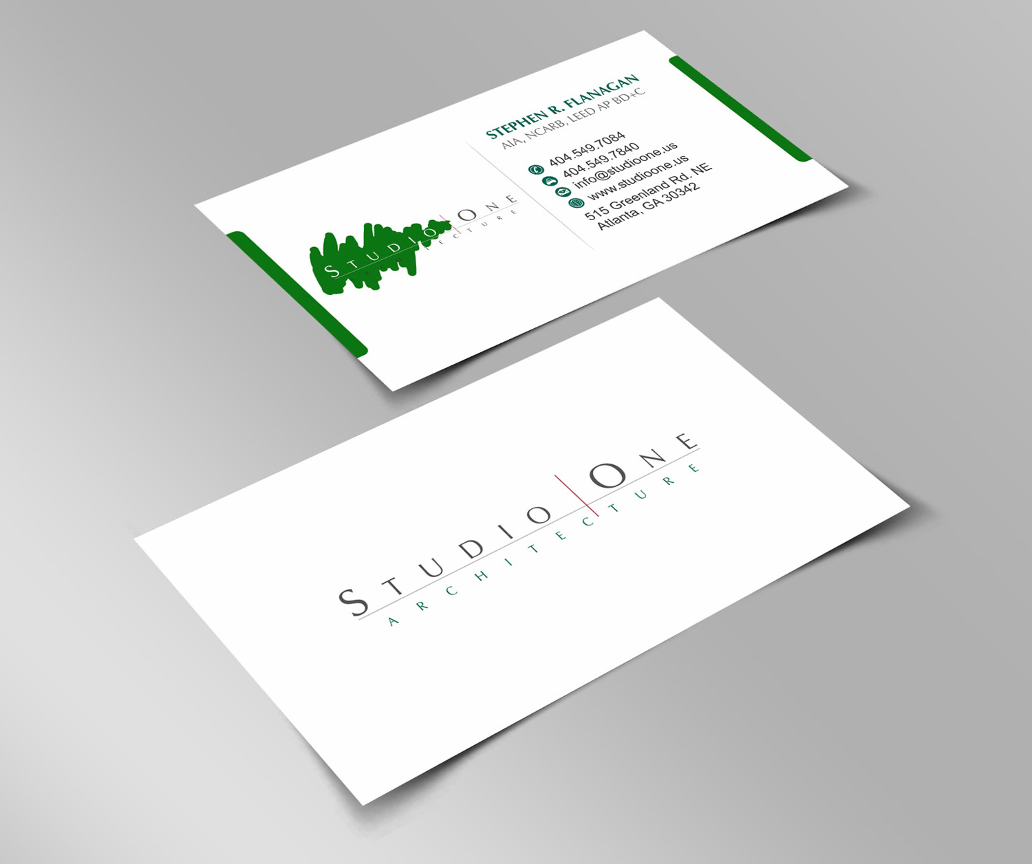 Elegant, Serious, Architect Business Card Design for Studio One ...