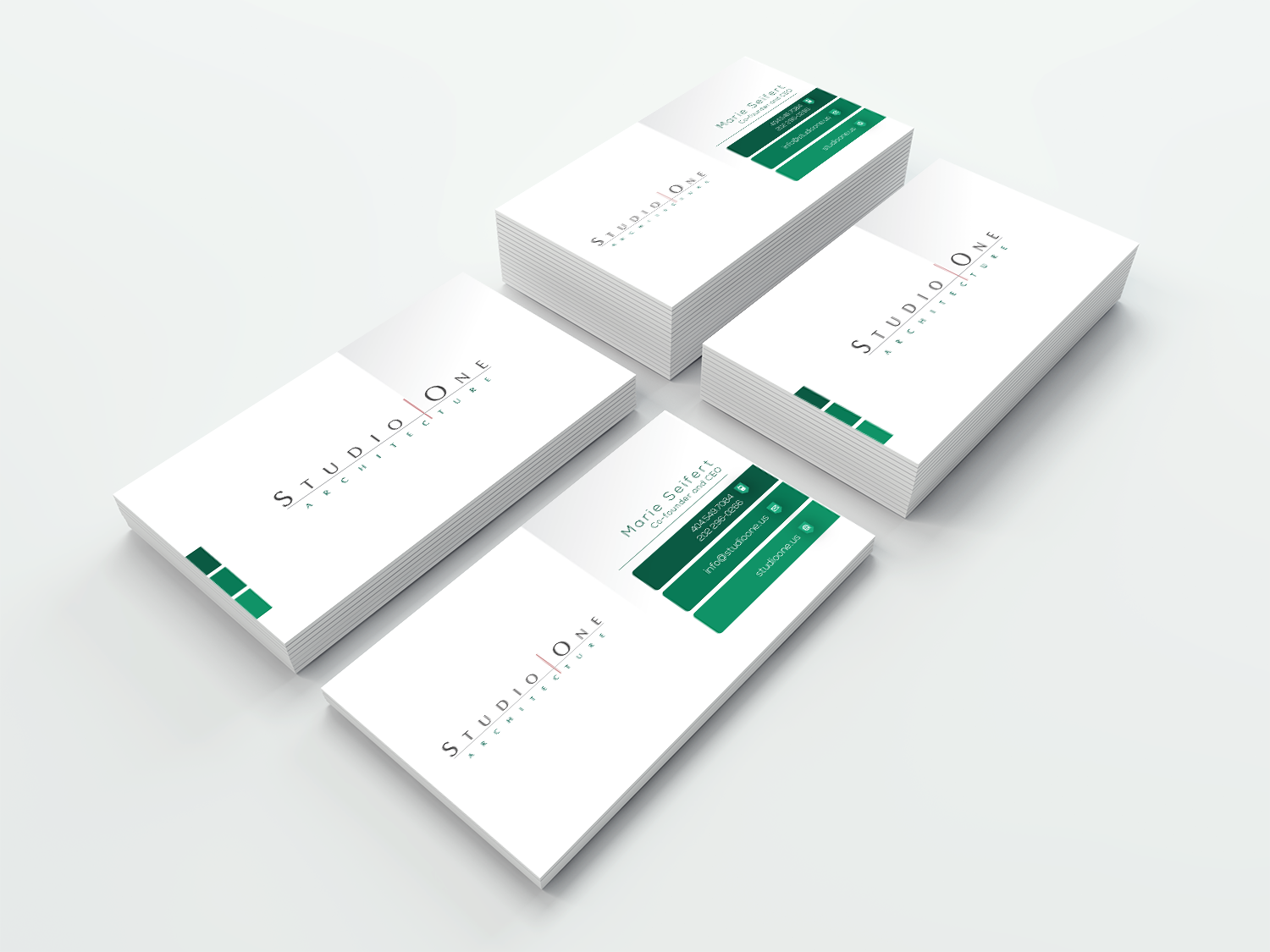 Elegant Serious Architect Business Card Design For Studio One