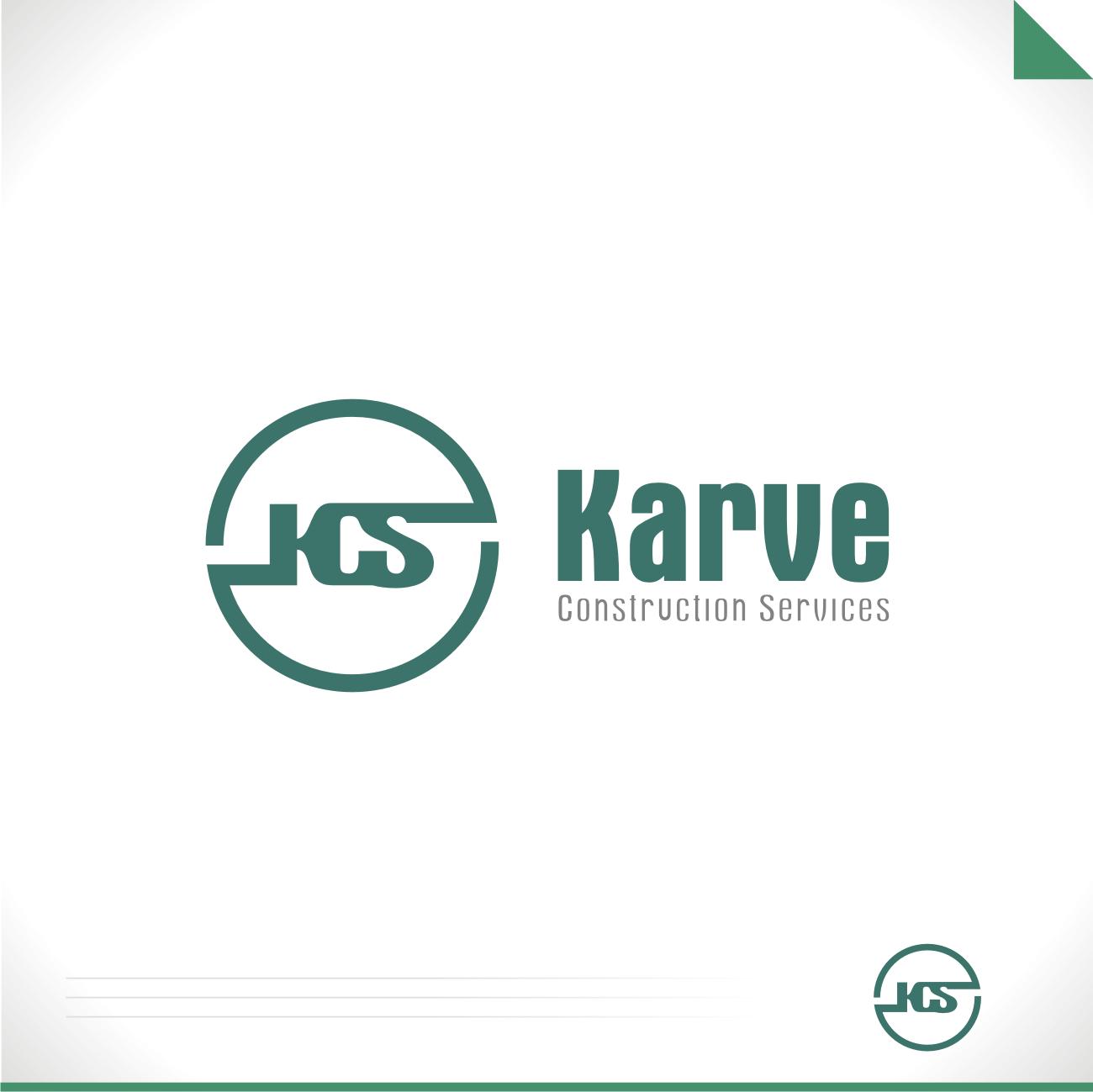 masculine, bold, construction company logo design for karve